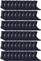 60 Units of Yacht & Smith Women's Sports Crew Socks, Size 9-11, Navy - Womens Crew Sock