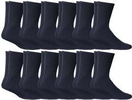 12 Units of Yacht & Smith Women's Sports Crew Socks, Size 9-11, Navy - Womens Crew Sock
