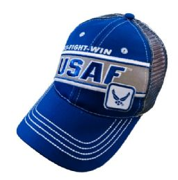 12 Units of Licensed USAF Mesh Hat Fly Fight Win - Baseball Caps & Snap Backs