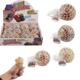 36 Units of Mesh Squish Ball with Water Beads Rainbow - Slime & Squishees