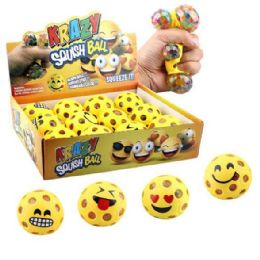 36 Units of Mesh Squish Ball with Water Beads Krazy Expressions - Slime & Squishees