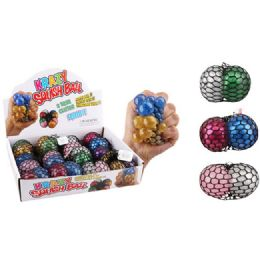 36 Units of Mesh Squish Ball Two Tone Glitter - Slime & Squishees