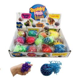 36 Units of Small Mesh Squish Ball Solid Colors - Slime & Squishees