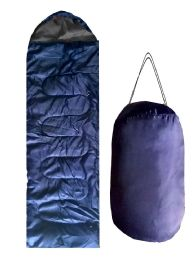 12 Units of ADULTS SLEEPING BAG IN SOLID NAVY - Camping Sleeping Bags