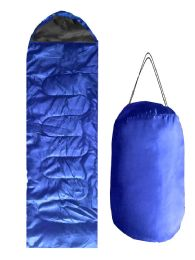 12 Units of ADULTS SLEEPING BAG IN ROYAL BLUE - Camping Sleeping Bags