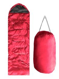 12 Units of ADULTS SLEEPING BAG IN RED - Camping Sleeping Bags