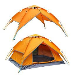 2 Units of Camping Tent Orange 3-4 People - Camping Gear