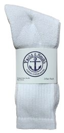 240 Units of Yacht & Smith Men's Premium Cotton Crew Socks White Size 10-13 - Mens Crew Socks