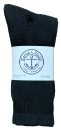 240 Units of Yacht & Smith Men's Premium Cotton Crew Socks Black Size 10-13 - Mens Crew Socks