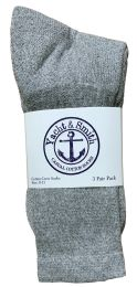 240 Units of Yacht & Smith Women's Premium Cotton Crew Socks Gray Size 9-11 - Womens Crew Sock