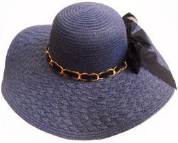 36 Units of Ladies Hat Braided Brim - Sun Hats