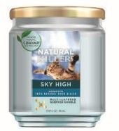 6 Units of Natural Killer 130z Candle With Clean Air Technology Odor Eliminator, Ski High - Candles & Accessories