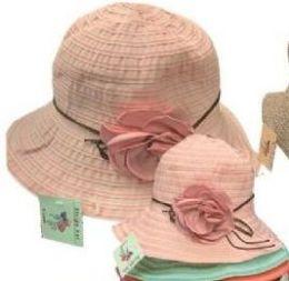 48 Units of Womens Straw Sun Hat, Beach Hat - Sun Hats