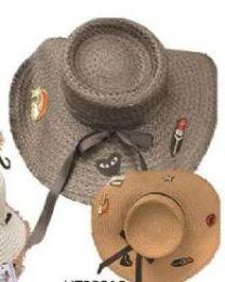 36 Units of Womens Straw Tattoo Hats, Sun Hat Beach Hat - Sun Hats