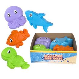 72 Units of Sand Mold Sea Animals - Beach Toys