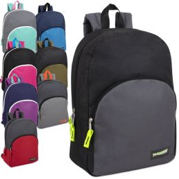 "24 Units of 15 Inch Promo Backpack - Assorted Colors - Backpacks 15"" or Less"