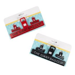 72 Units of Bag Clip Three Pack Giant - Clips and Fasteners