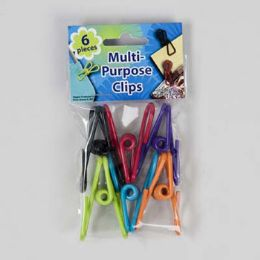 48 Units of Clips Multi Purpose Vinyl Coated - Clips and Fasteners