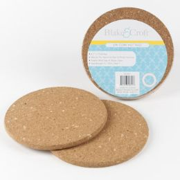 24 Units of Cork Hot Pad Round - Coasters & Trivets