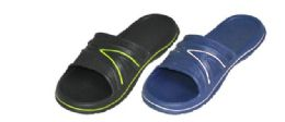 36 Units of Men's Shower Slippers Two Color Assortment - Men's Slippers