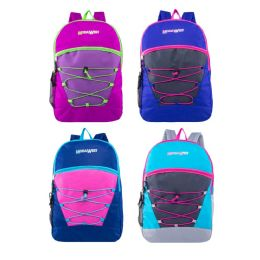 """24 Units of 17"""" Classic Bungee Backpacks in 6 Assorted Colors - Backpacks 17"""""""