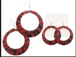 36 Units of Multi Color And Silver Tone Acrylic Dangle Earrings - Earrings