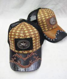36 Units of Metallic Star Straw Baseball Cap - Baseball Caps & Snap Backs