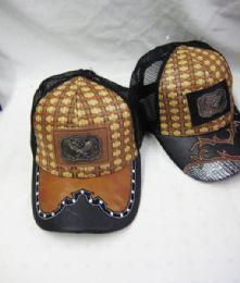 36 Units of Metallic Eagle Straw Baseball Cap - Baseball Caps & Snap Backs