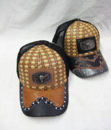 36 Units of Metallic Bull Straw Baseball Cap - Baseball Caps & Snap Backs