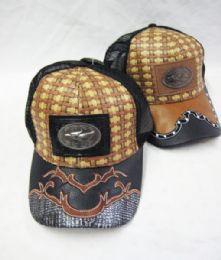 36 Units of Metallic Hecho En Mexico Straw Baseball Cap - Baseball Caps & Snap Backs