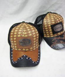 "36 Units of Metallic ""michoacan"" Straw Baseball Cap - Baseball Caps & Snap Backs"