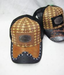"36 Units of Metallic ""ensenada"" Straw Baseball Cap - Baseball Caps & Snap Backs"