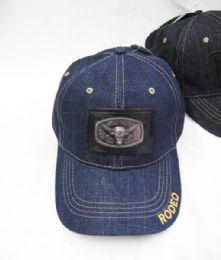 36 Units of Bull Medallion Denim Baseball Cap - Baseball Caps & Snap Backs