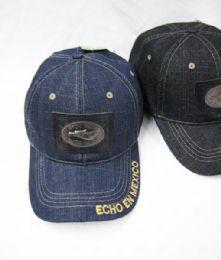 36 Units of Hecho En Mexico Denim Baseball Cap - Baseball Caps & Snap Backs