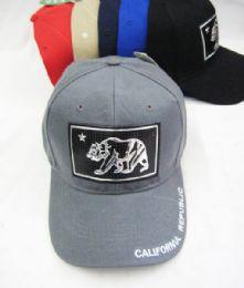 36 Units of California Republic Baseball Cap - Baseball Caps & Snap Backs