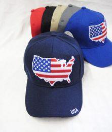 36 Units of Usa Baseball Cap - Baseball Caps & Snap Backs