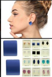 36 Units of Hearts Stud Earrings Multi Color - Earrings