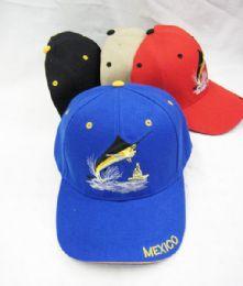 36 Units of Mexico Fish Baseball Cap - Baseball Caps & Snap Backs