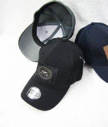 24 Units of Star Medallion Solid Color Baseball Cap - Baseball Caps & Snap Backs