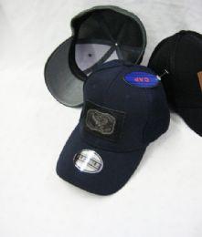 24 Units of Eagle Medallion Solid Color Baseball Cap - Baseball Caps & Snap Backs