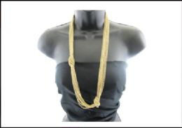 12 Units of Gold Tone knot chain - Necklace