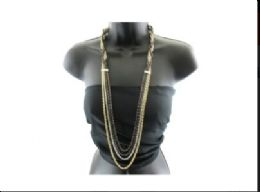 12 Units of Half braided multicolor chain necklace - Necklace