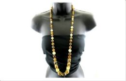 12 Units of Long assorted shades of brown necklace - Necklace