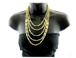 12 Units of Long gold necklace - Necklace