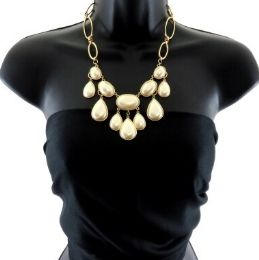 12 Units of Medium length necklace with tear drop shaped jewels - Necklace