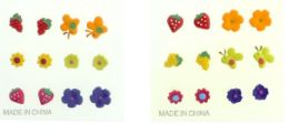 36 Units of Assorted Spring Shapes Six Pair Per Card Multiple Earring Set Multi Color - Earrings