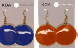 36 Units of Assorted Color And Gold Tone Metal Dangle Earring - Earrings