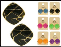 36 Units of Assorted Color And Gold Tone Metal Stud Earring - Earrings