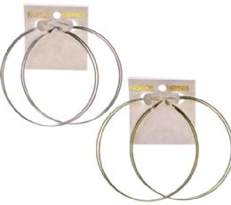 36 Units of Assorted Color Metal Hoop-Earrings - Earrings
