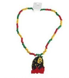 96 Units of BOB Marley Rasta color necklace - Necklace